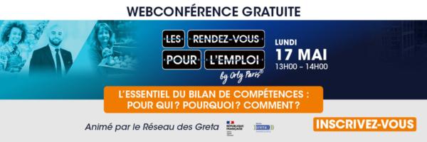Webconference Bilan competences - rdv emploi 20 mai 2021